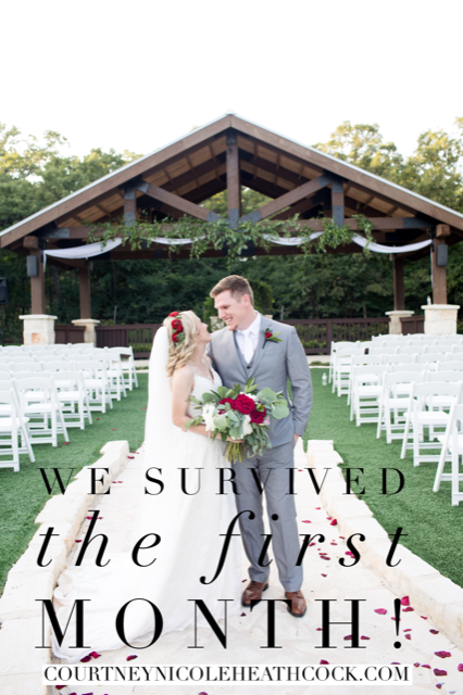 We survived the first month of marriage!