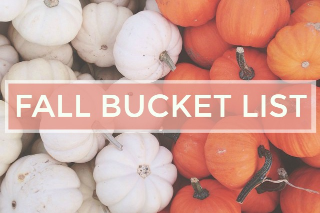 Fun in the Fall: My Fall Bucket List