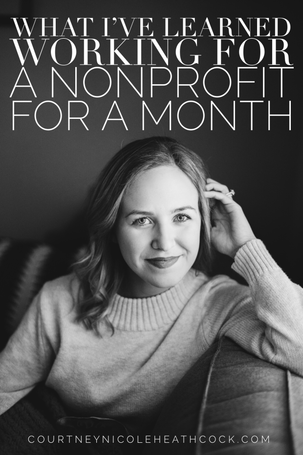What I've Learned Working for a Nonprofit for a month